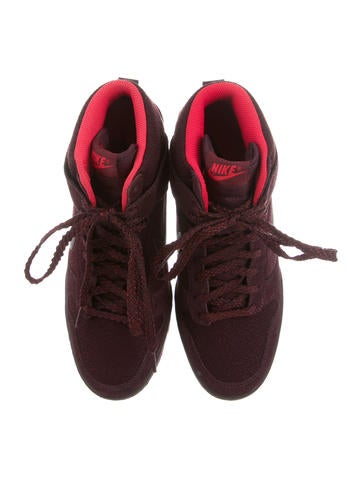 Suede Sneaker Wedges