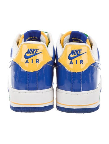 Nike Air Force 1 Premium Blue Yellow  f4d41ce605