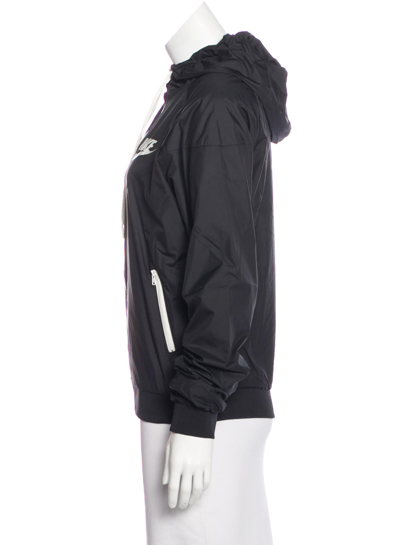 nike hooded zip up jacket clothing wu221675 the realreal. Black Bedroom Furniture Sets. Home Design Ideas