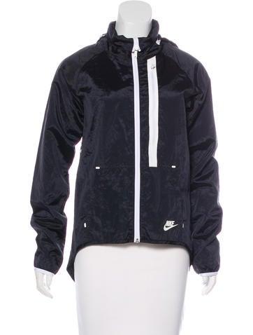 Hooded Windbreaker Jacket None