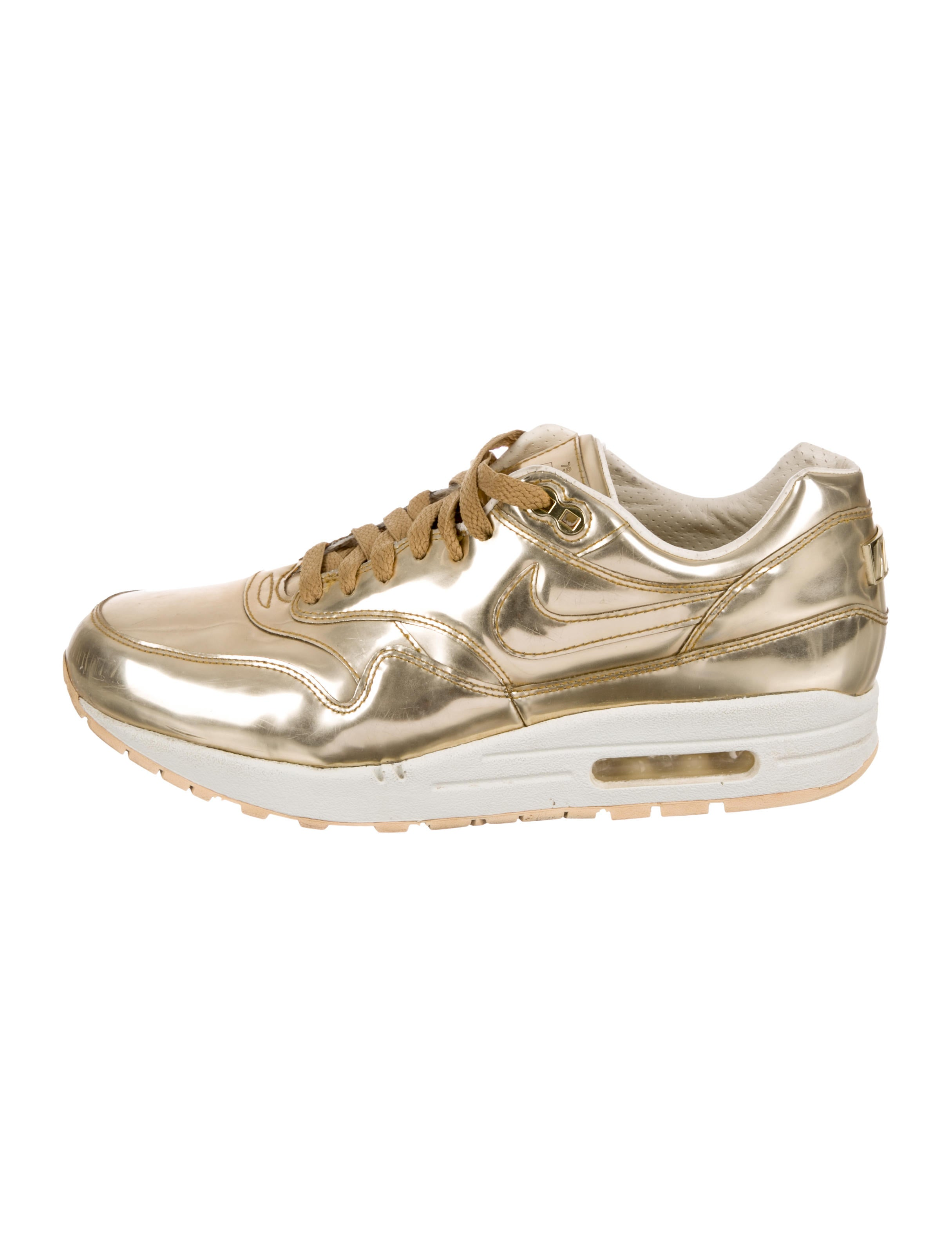The RealReal Liquid Chaussures Air Max 1 WU223200 Gold Nike Sneakers Hw8OFqB