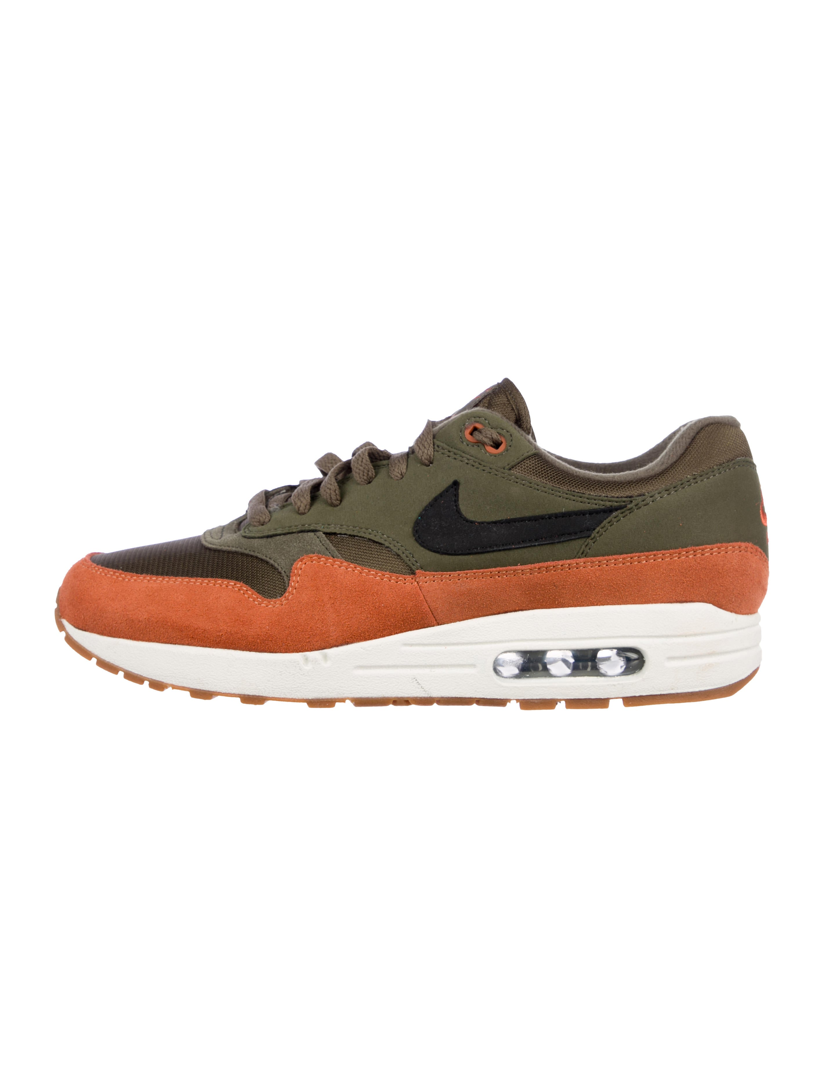 Nike Air Max 1 Olive Canvas Sneakers Shoes WU235379