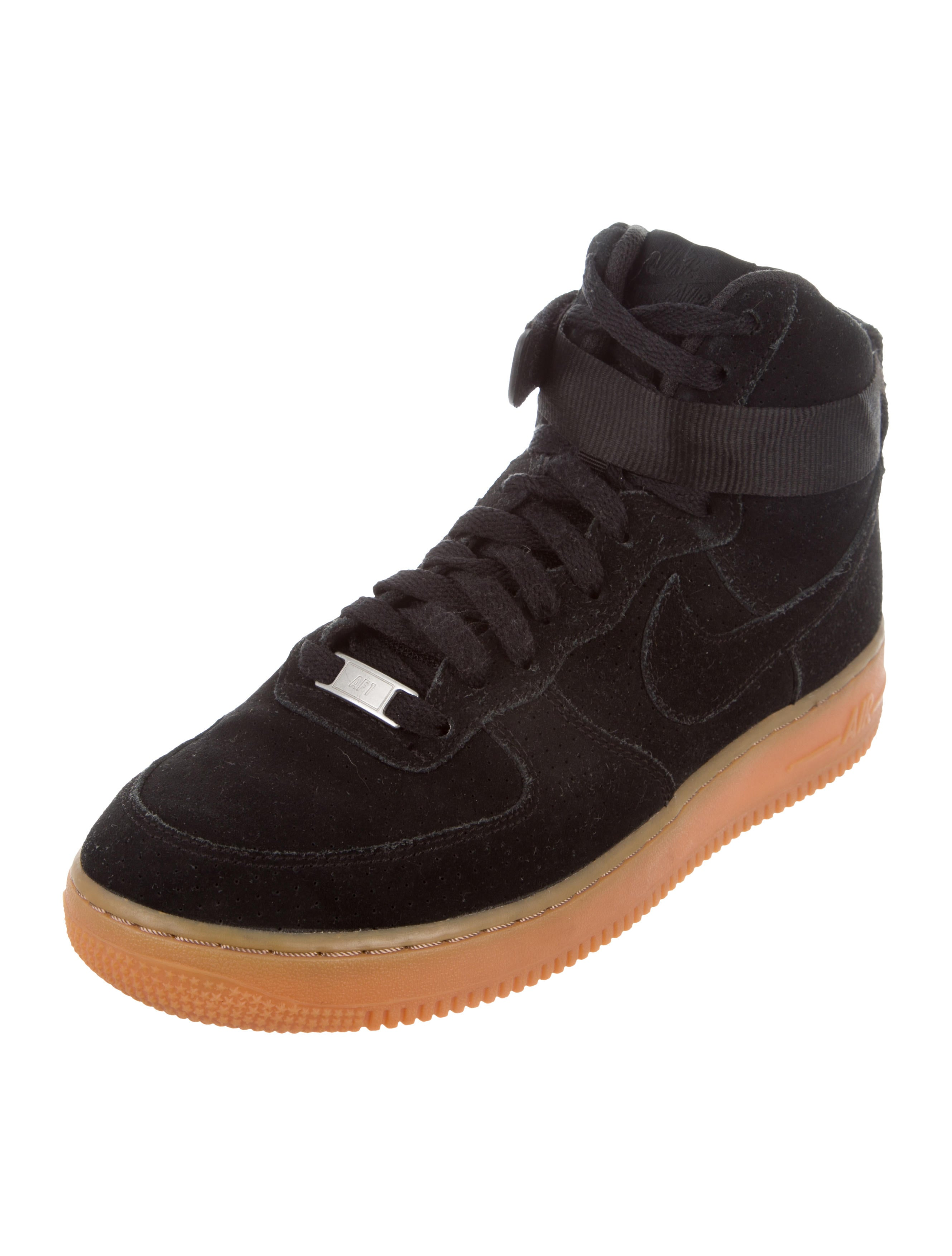 "Nike Air Force 1 High ""Black Suede Gum"" Wmn Sz 9.5 749266 001"