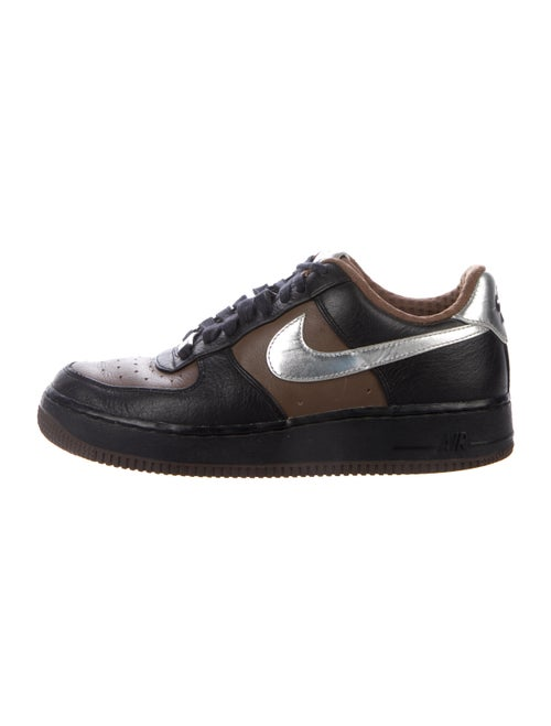 Nike Air Force 1 Leather Athletic Sneakers Brown