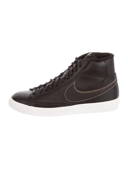 Nike Blazer Mid DarkPatina Leather Sneakers Black