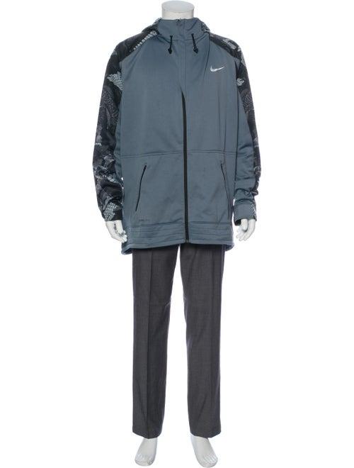 Nike Printed Crew Neck Hoodie Black