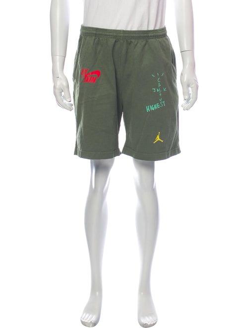 Nike Graphic Print Jogger Shorts Green