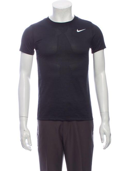 Nike Crew Neck Short Sleeve Sweatshirt Black