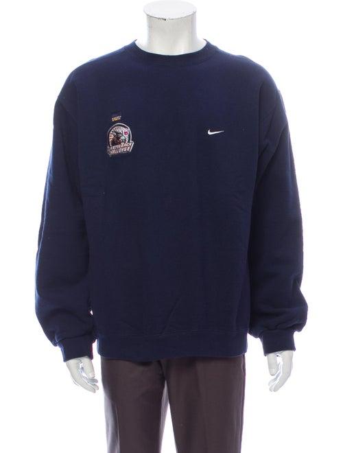 Nike Graphic Print Crew Neck Sweatshirt Blue