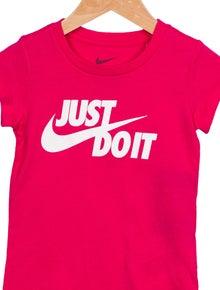 Nike Girls' Slogan Short Sleeve T-Shirt w/ Tags