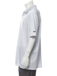 Nike Striped Crew Neck Polo Shirt