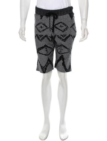 Baja East Cashmere Intarsia Shorts w/ Tags None
