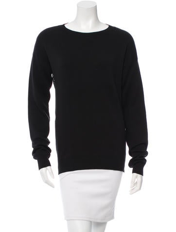 Baja East Long Sleeve Rib Knit Sweater None