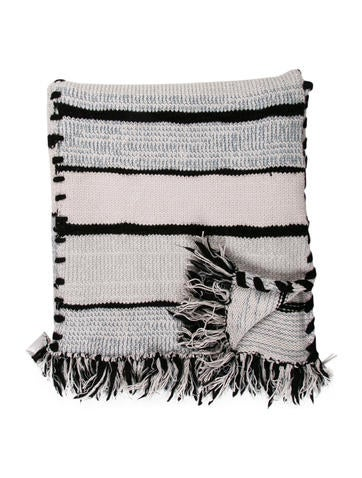 Cashmere and Wool Throw Blanket
