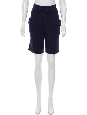 Baja East Knit Knee-Length Shorts w/ Tags None