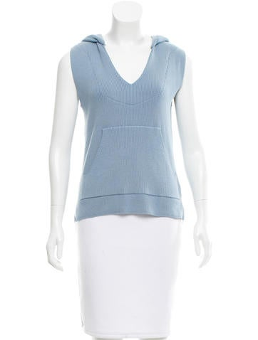 Baja East Sleeveless Hooded Sweater None