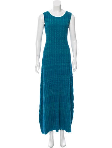 Baja East Jade Stripe Maxi Dress None