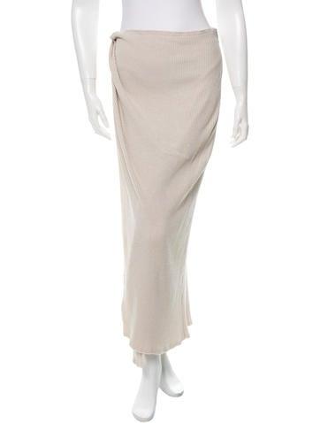 Baja East Wool Glitter Maxi Skirt w/ Tags None