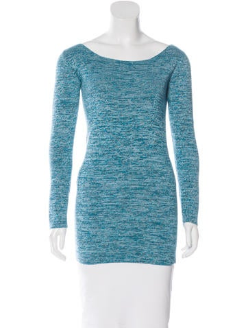 Baja East Rib Knit Scoop Neck Sweater None