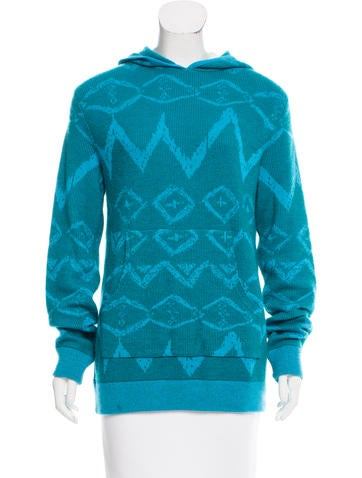 Baja East Hooded Cashmere Sweater None