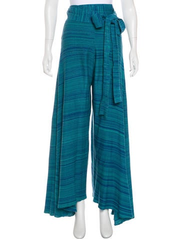 Baja East Knit High-Rise Pants None