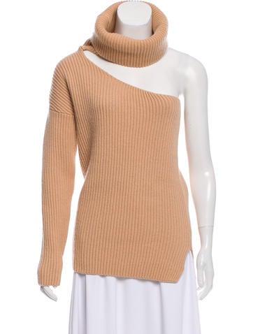 Baja East One-Shoulder Wool Sweater None
