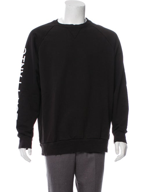 Baja East Graphic Crew Neck Sweatshirt black