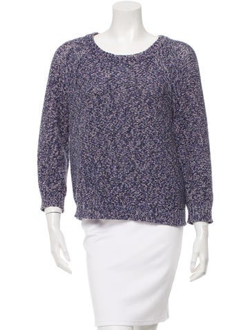 Ulla Johnson Scoop Neck Mélange Sweater None