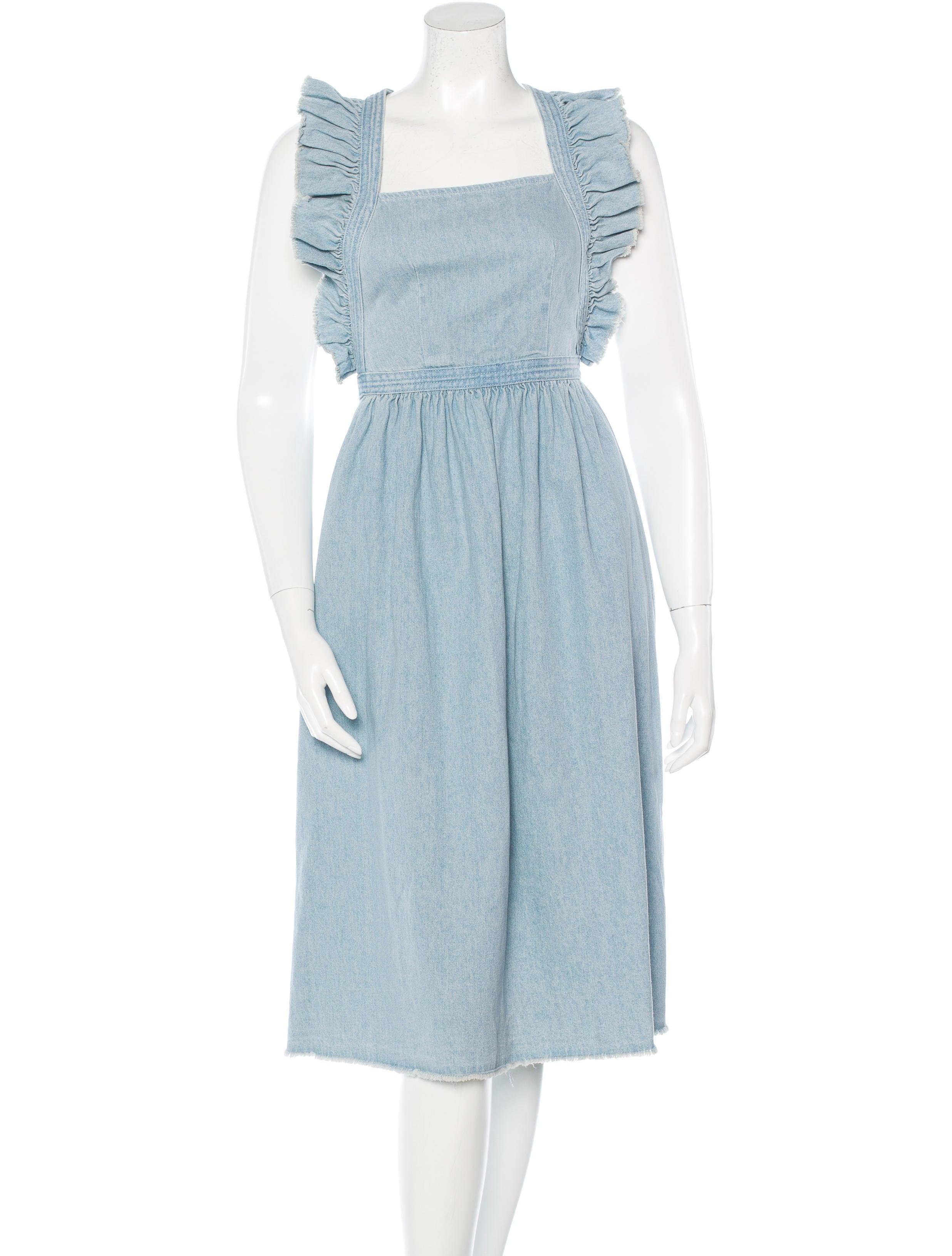 6b8519672a0 Ulla Johnson Denim Midi Dress - Clothing - WUL21363