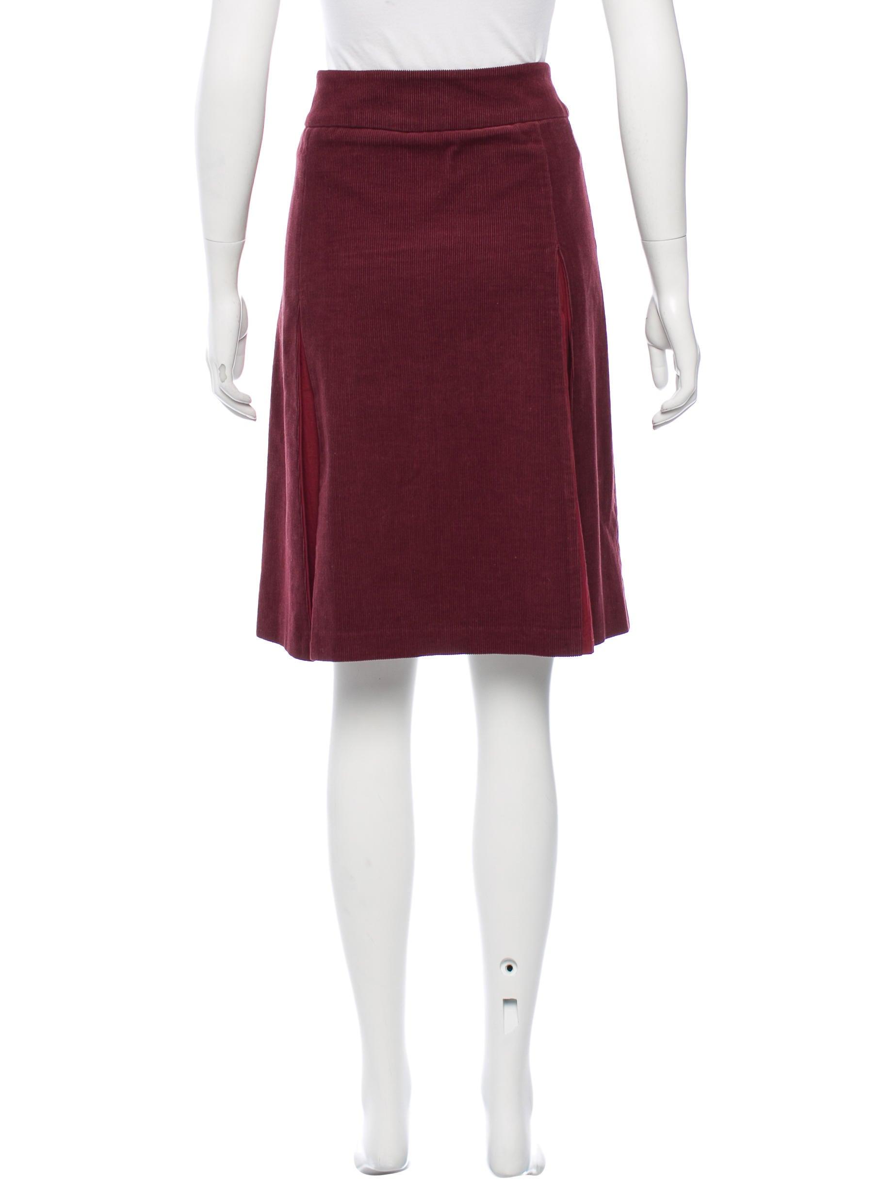ulla johnson corduroy knee length skirt clothing