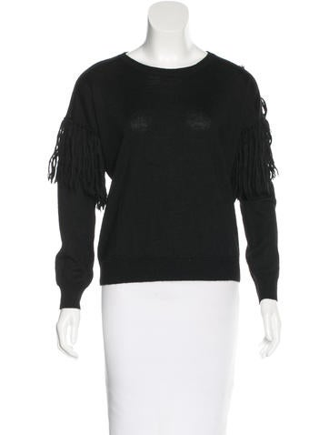 Ulla Johnson Alpaca Fringed Sweater None