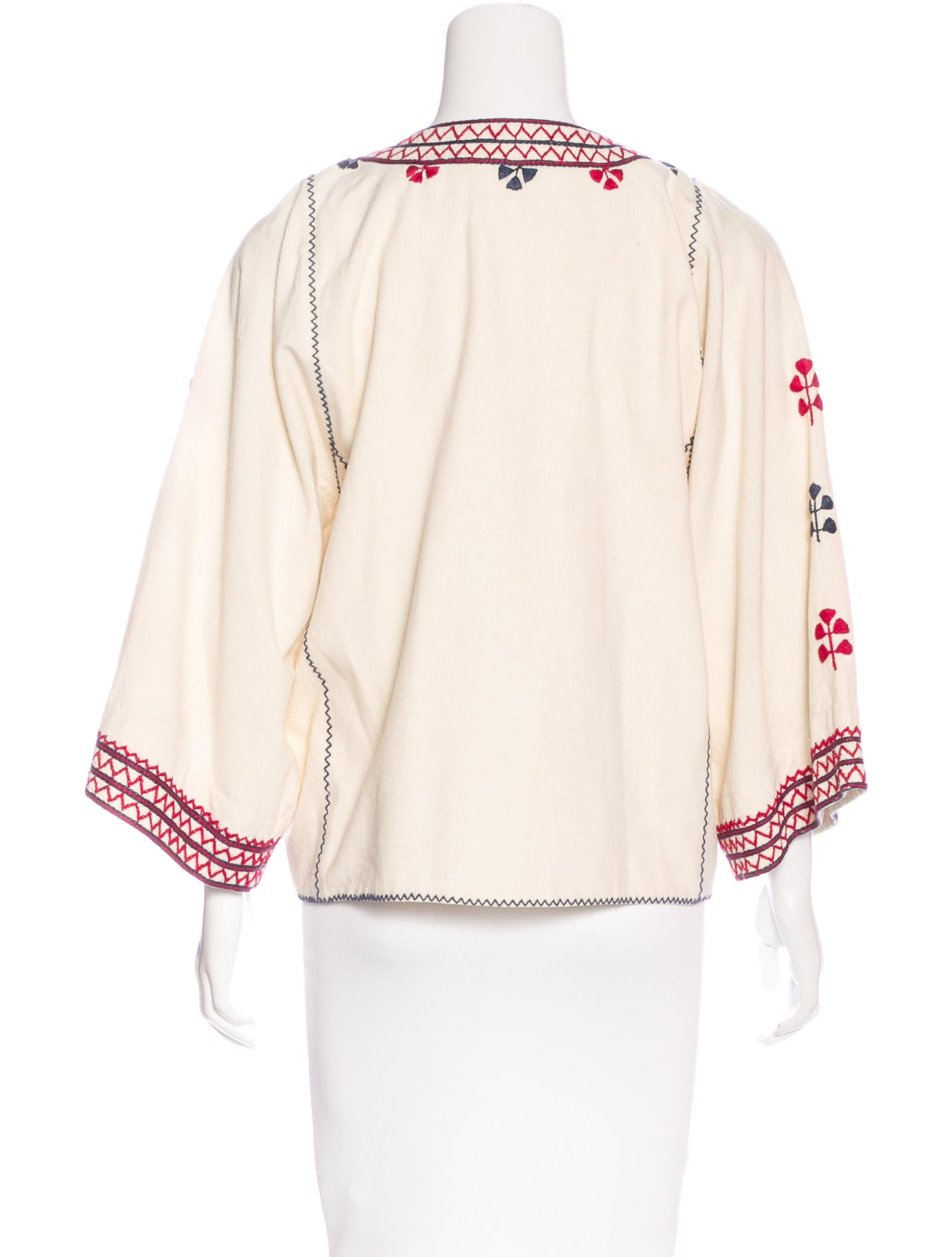 Ulla Johnson Silk Embroidered Jacket - Clothing - WUL22462 | The RealReal