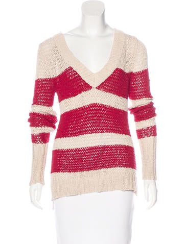 Ulla Johnson Open Knit Striped Sweater w/ Tags None