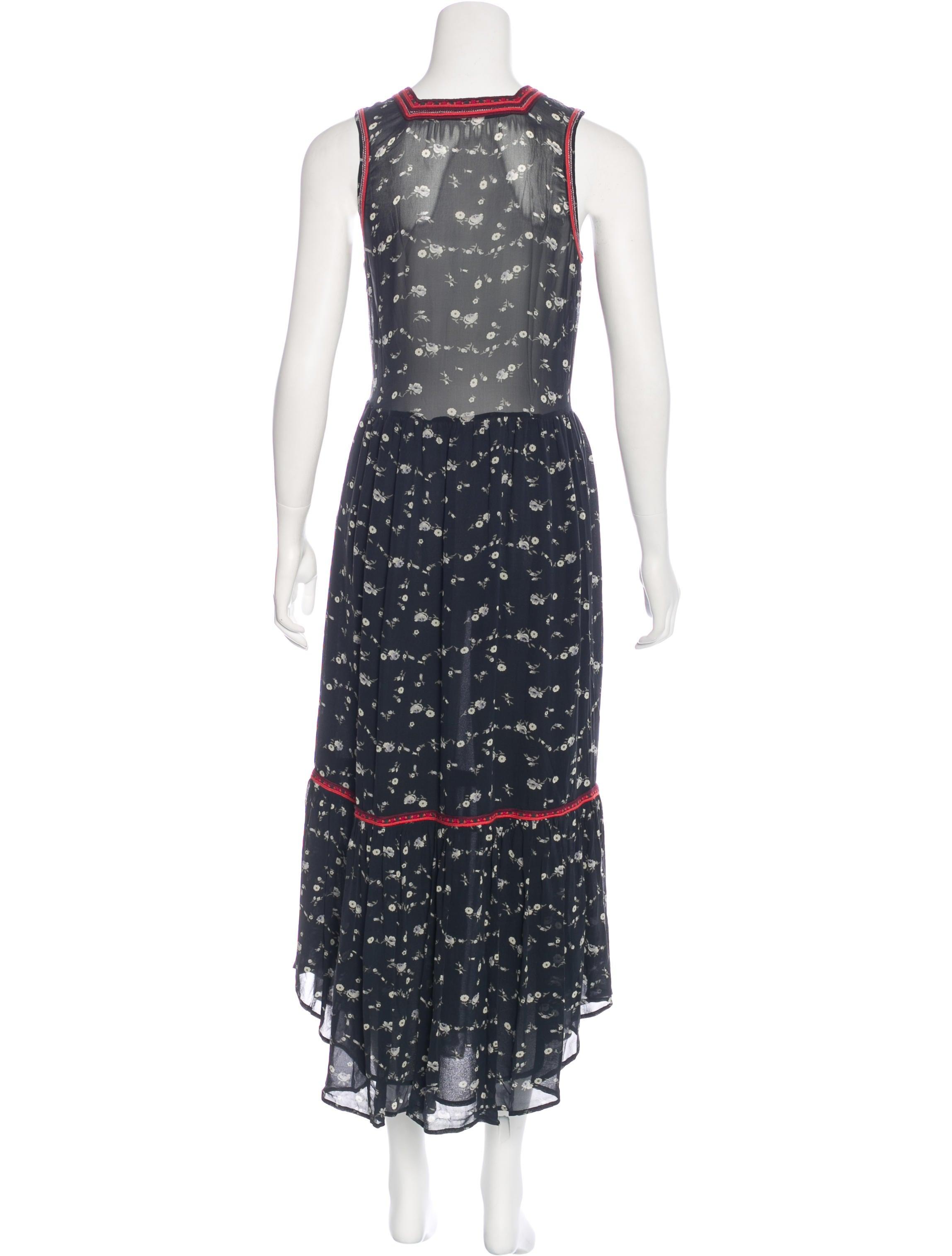 Ulla johnson silk embroidered dress clothing wul
