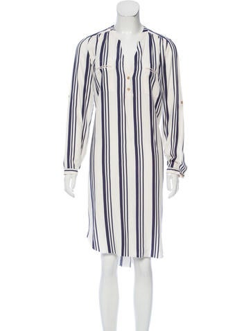 Ulla Johnson Stripe Print Long Sleeve Shirtdress None