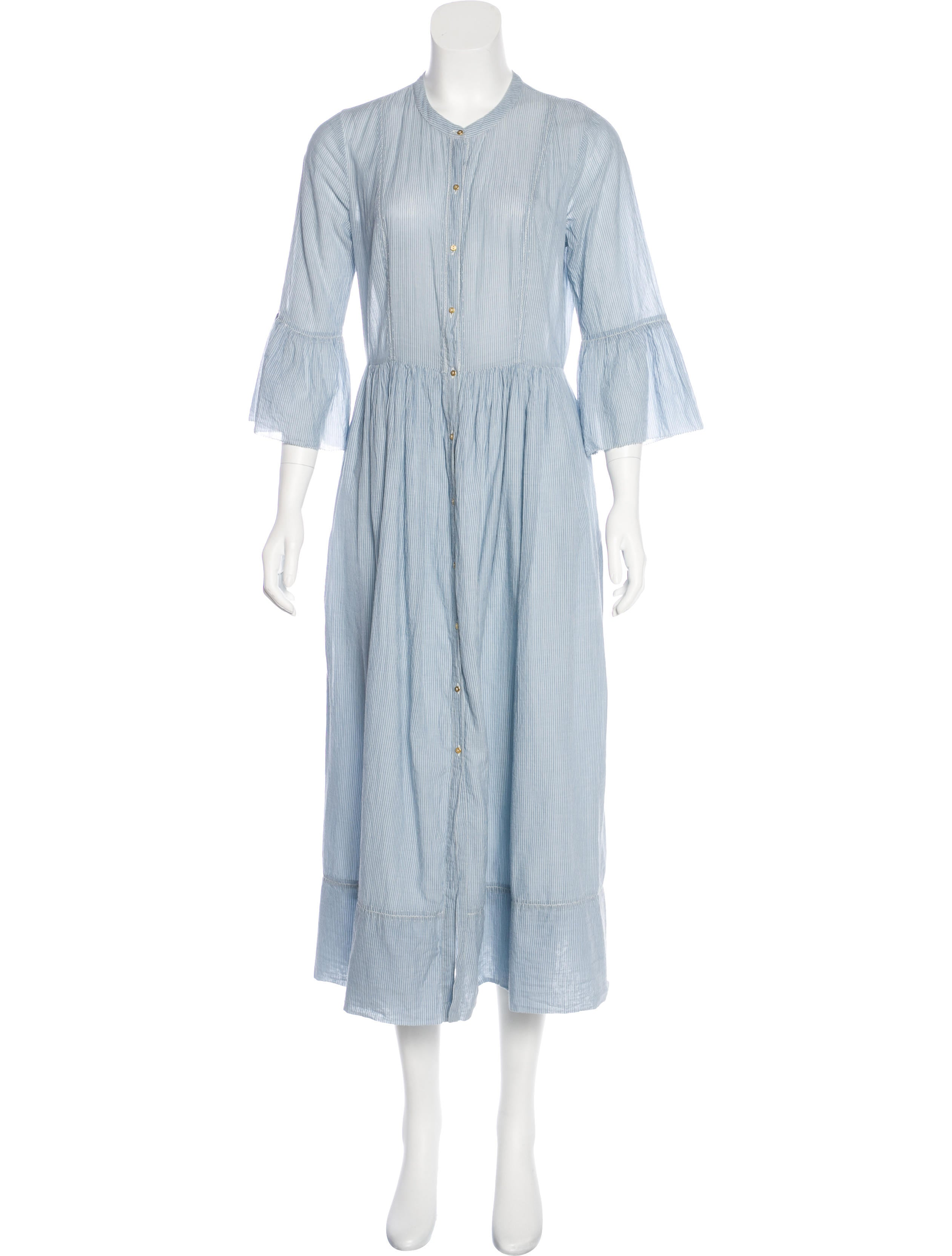 ce466ffd949 Ulla Johnson Button-Up Maxi Dress - Clothing - WUL24031