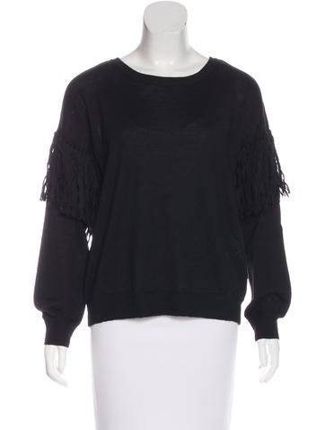 Ulla Johnson Alpaca Fringe-Accented Sweater None