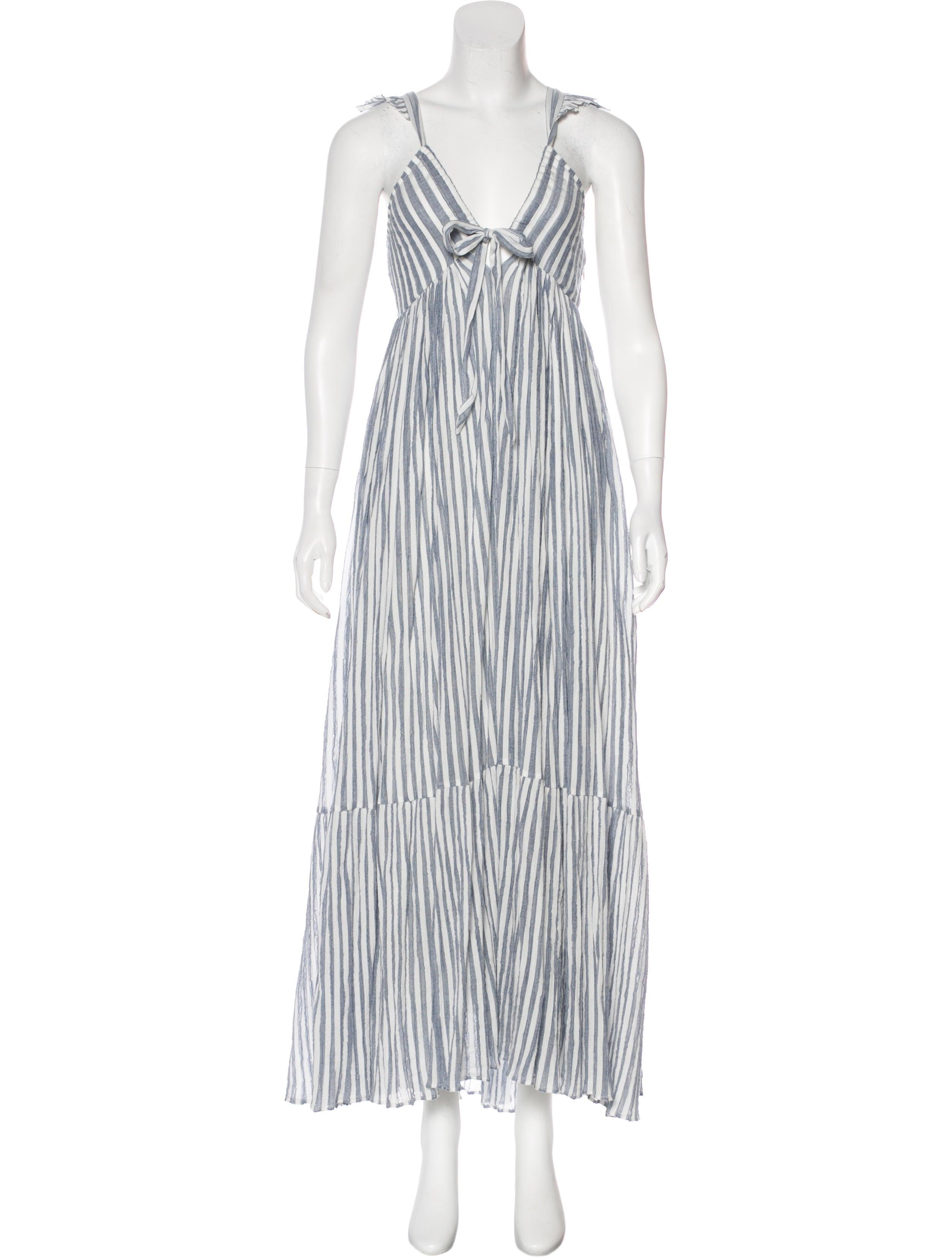 Ulla Johnson Striped Maxi Dress Clothing WUL24637