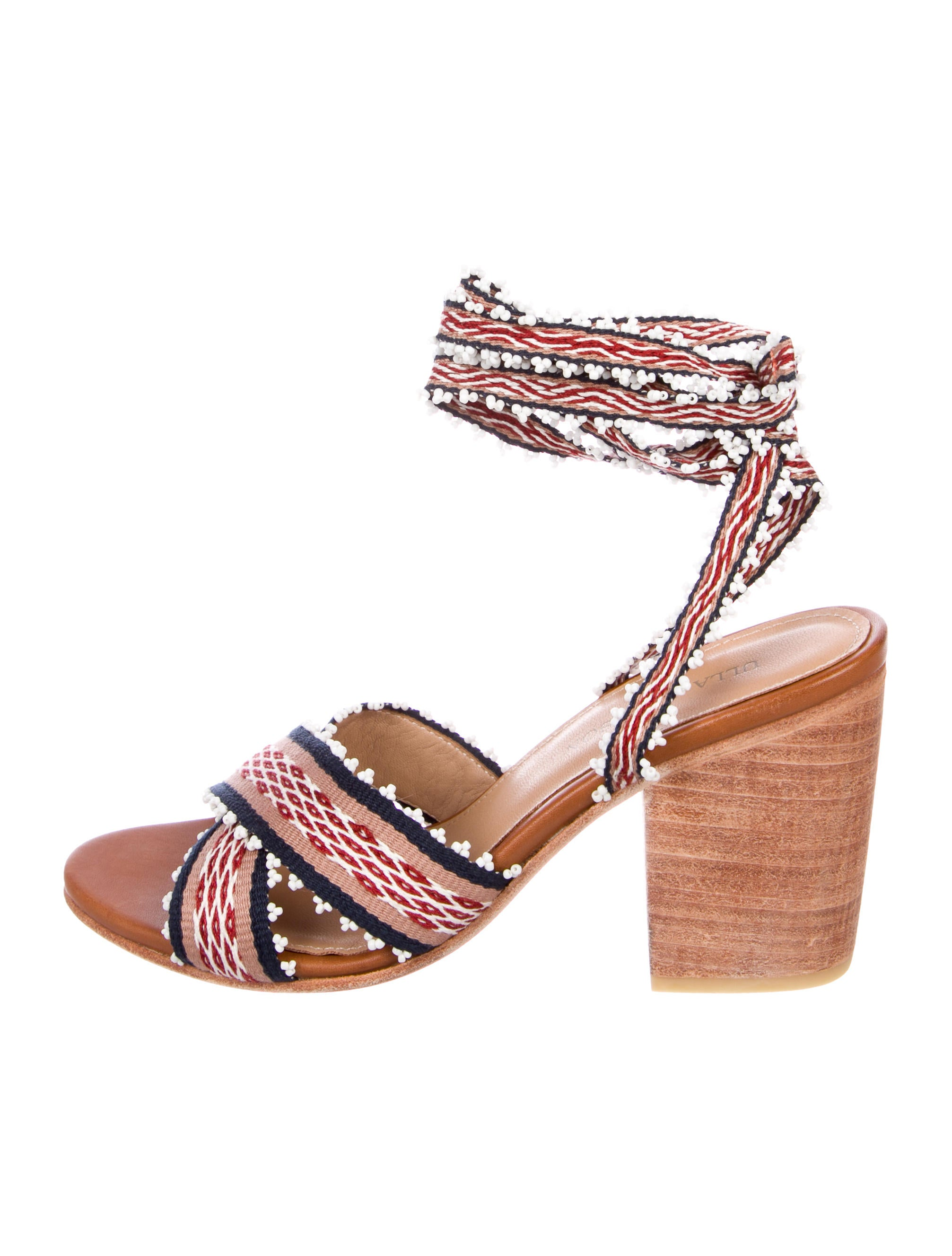 Ulla Johnson Canvas Crossover Sandals limited edition for sale xNKsC