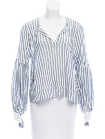 Ulla Johnson Striped Long Sleeve Top None