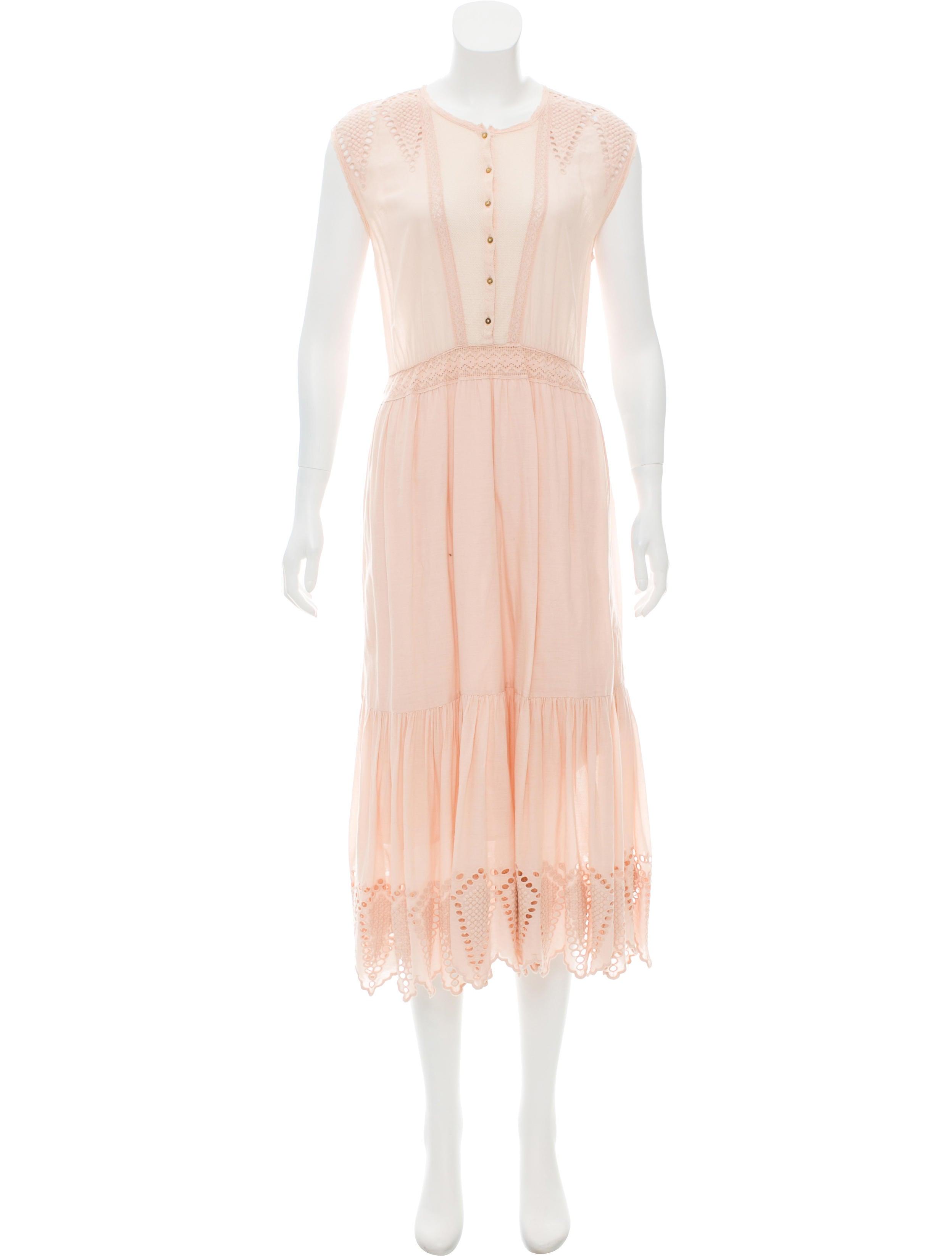 Embroidered Midi Dress w/ Tags