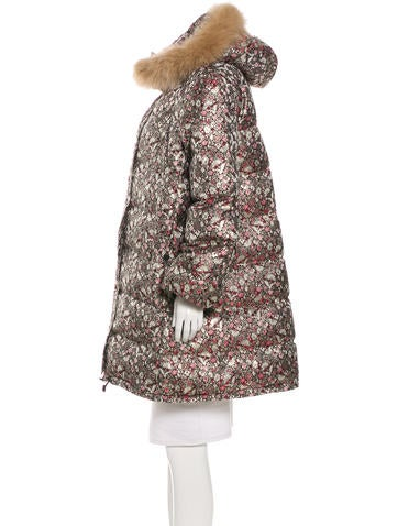Jacquard Down Coat