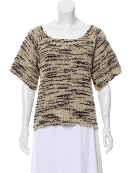 Ulla Johnson Short Sleeve Sweater Tan