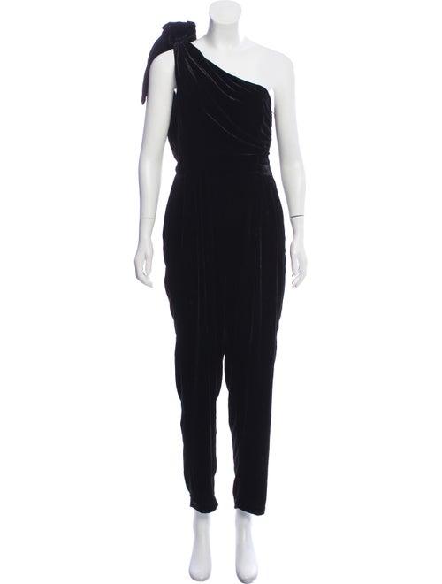 Ulla Johnson One-Shoulder Velvet Jumpsuit Black