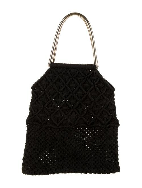 Ulla Johnson Crochet Handle Bag Black