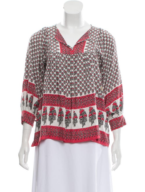 Ulla Johnson Silk Patterned Blouse Red