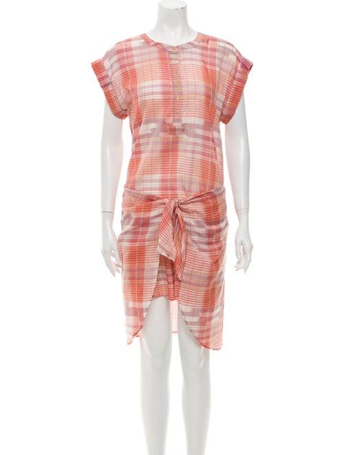Ulla Johnson Plaid Print Knee-Length Dress Pink