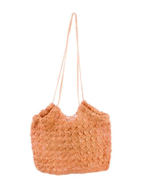 Ulla Johnson Crochet Flat Tote Orange