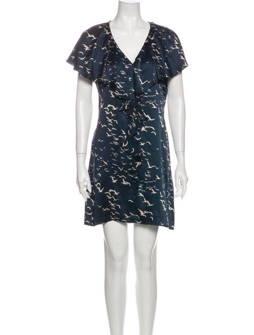 Ulla Johnson Silk Mini Dress Green
