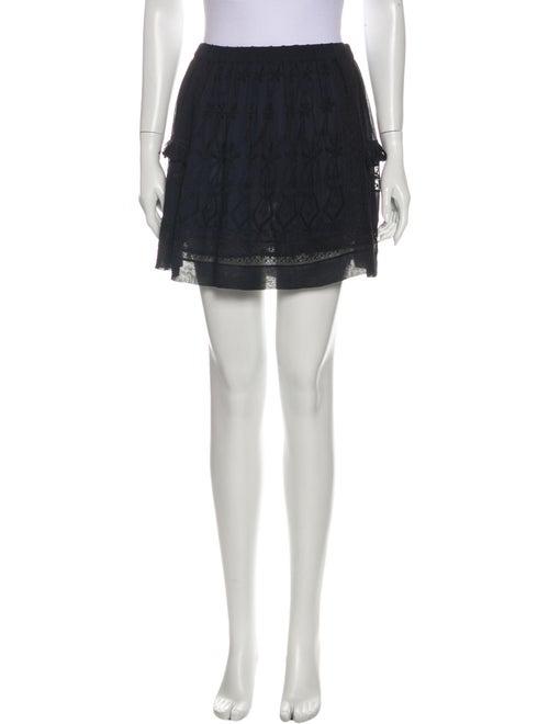 Ulla Johnson Silk Mini Skirt Black